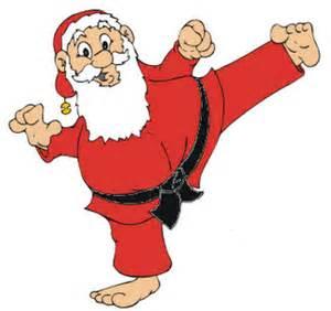 Kicking Santa