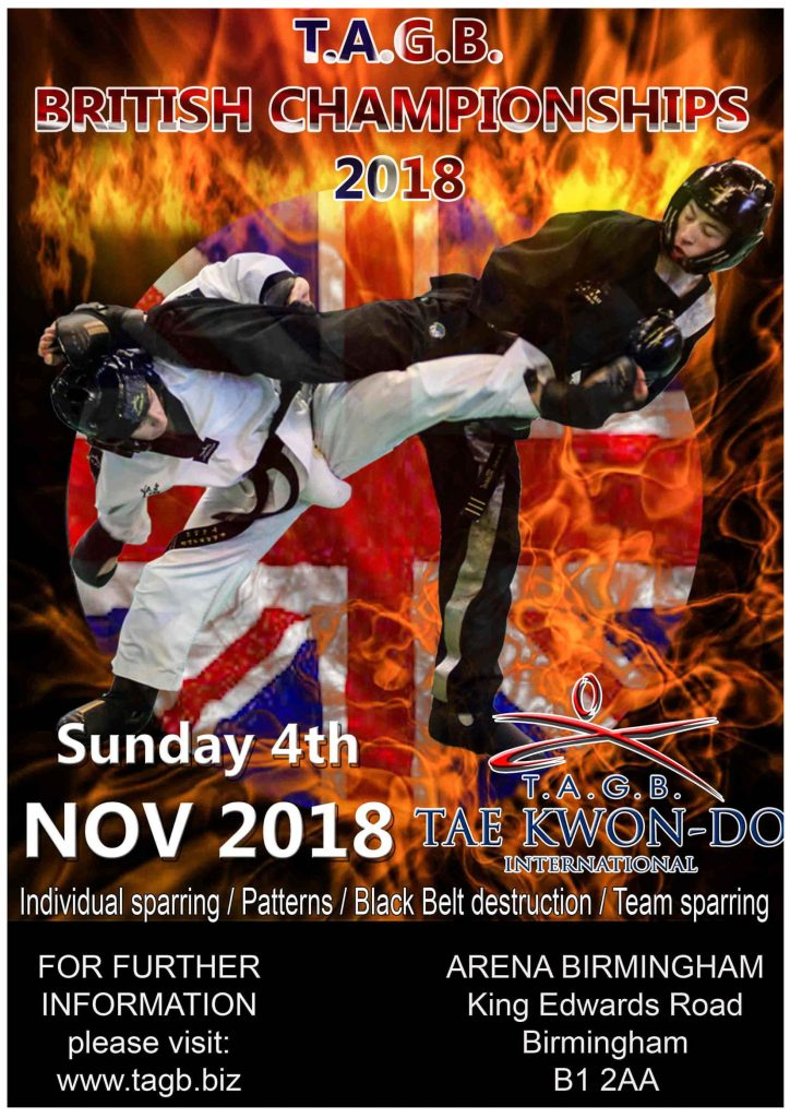 British Championships Poster showing two fighters kicking