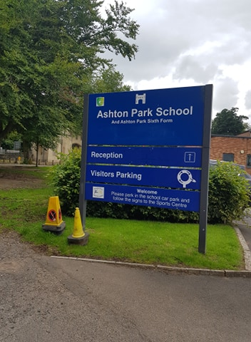 sign for Ashton Park School